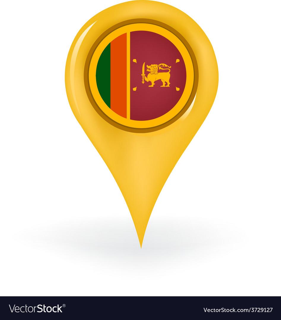 Location sri lanka vector | Price: 1 Credit (USD $1)