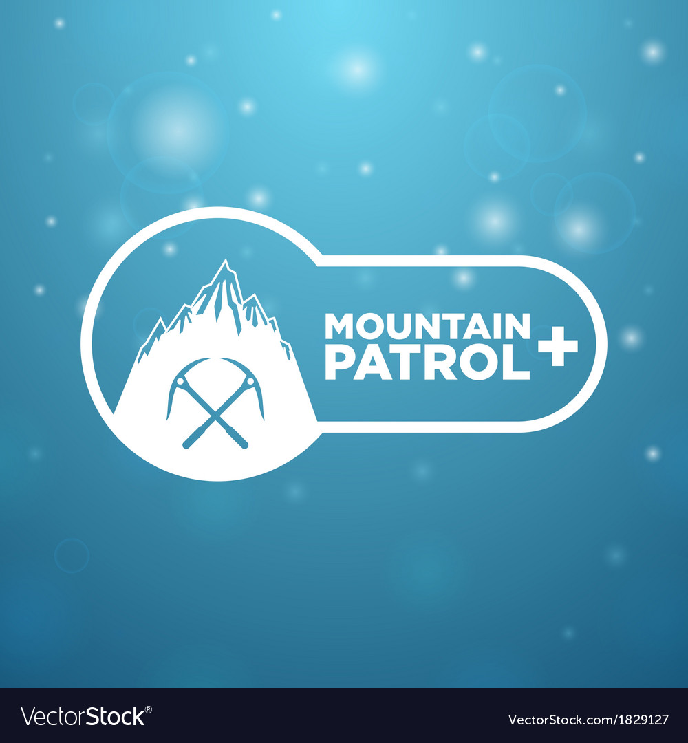Logotype mountain patrol vector | Price: 1 Credit (USD $1)