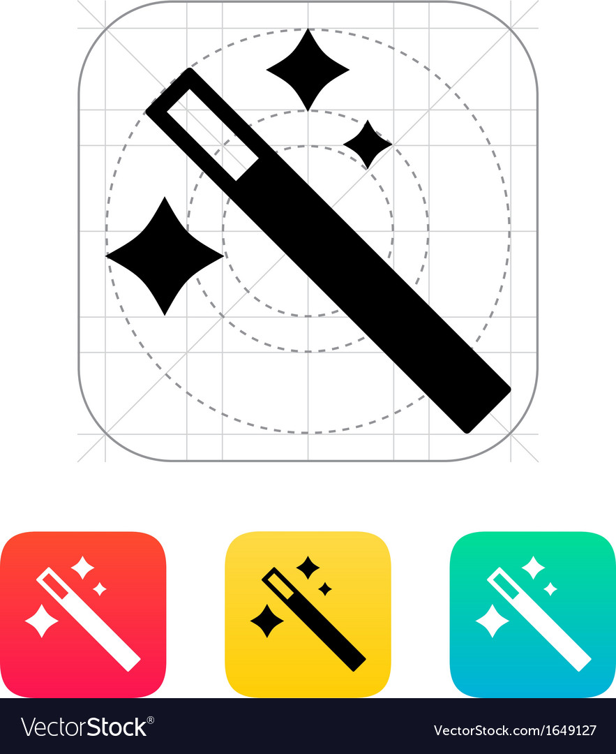 Magician wand icon vector | Price: 1 Credit (USD $1)