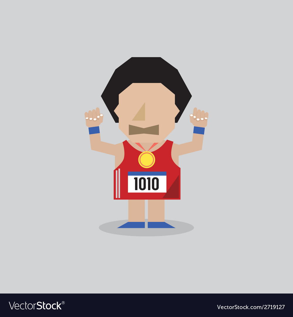 Marathon man vector | Price: 1 Credit (USD $1)