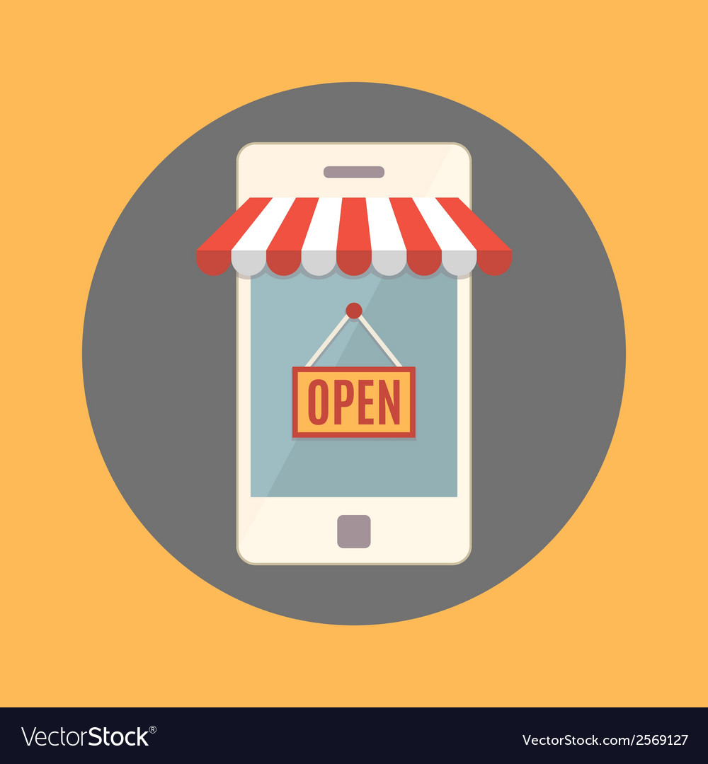 Mobile phone online store concept vector   Price: 1 Credit (USD $1)