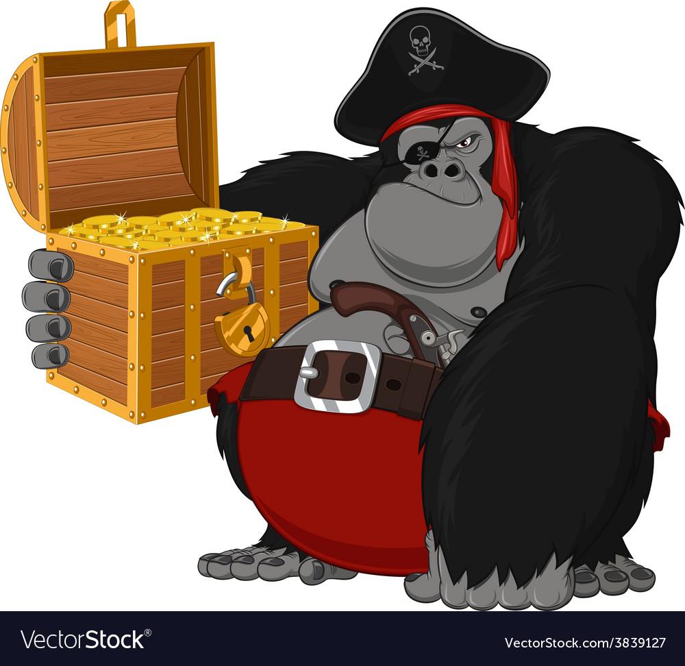 Monkey harsh pirate vector | Price: 3 Credit (USD $3)