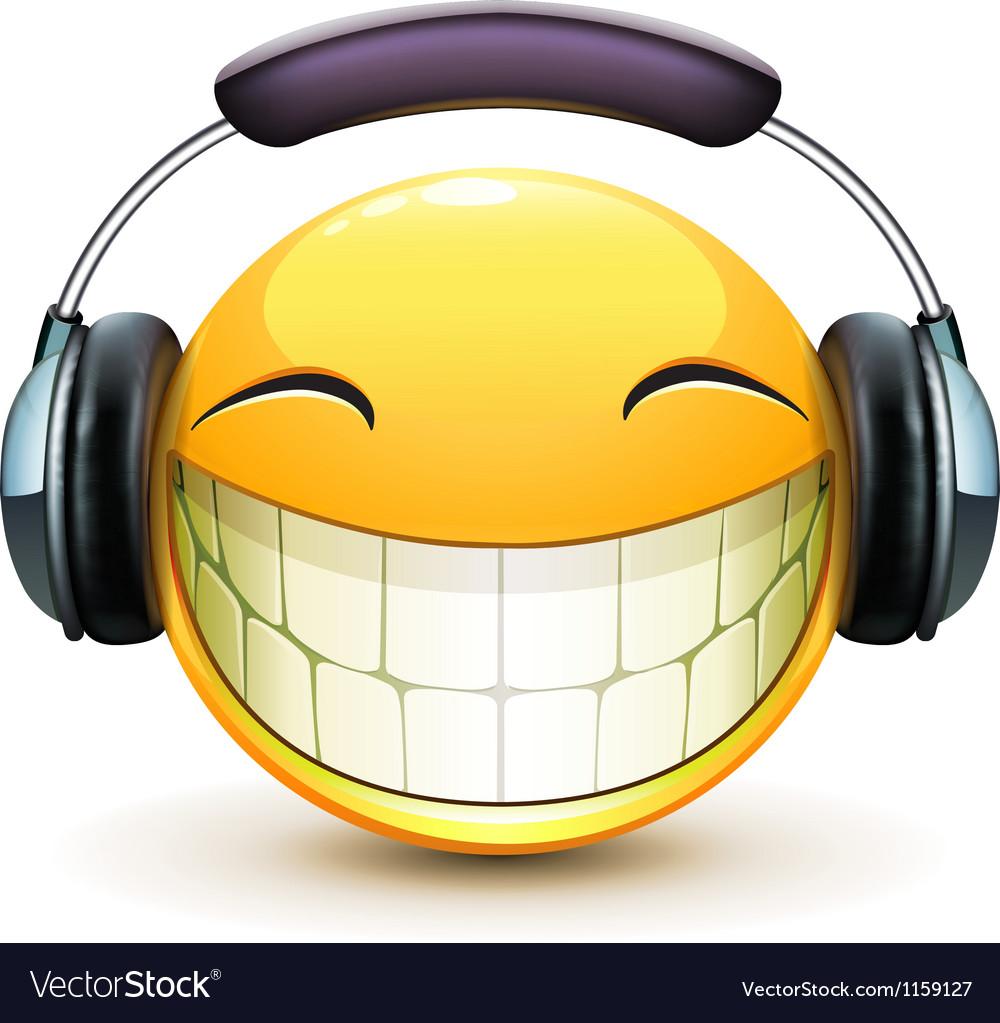 Musical emoticon vector | Price: 1 Credit (USD $1)