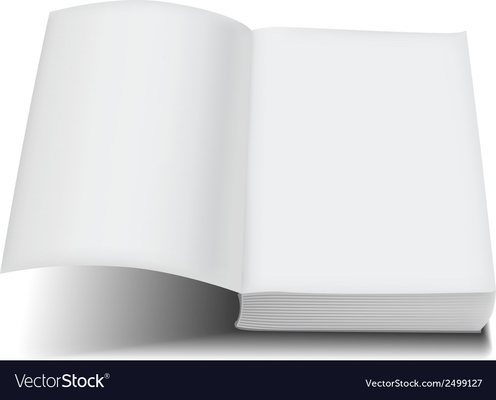 Open book front page paperback limp binding vector | Price: 1 Credit (USD $1)