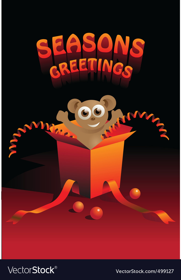 Seasons greetings vector | Price: 3 Credit (USD $3)