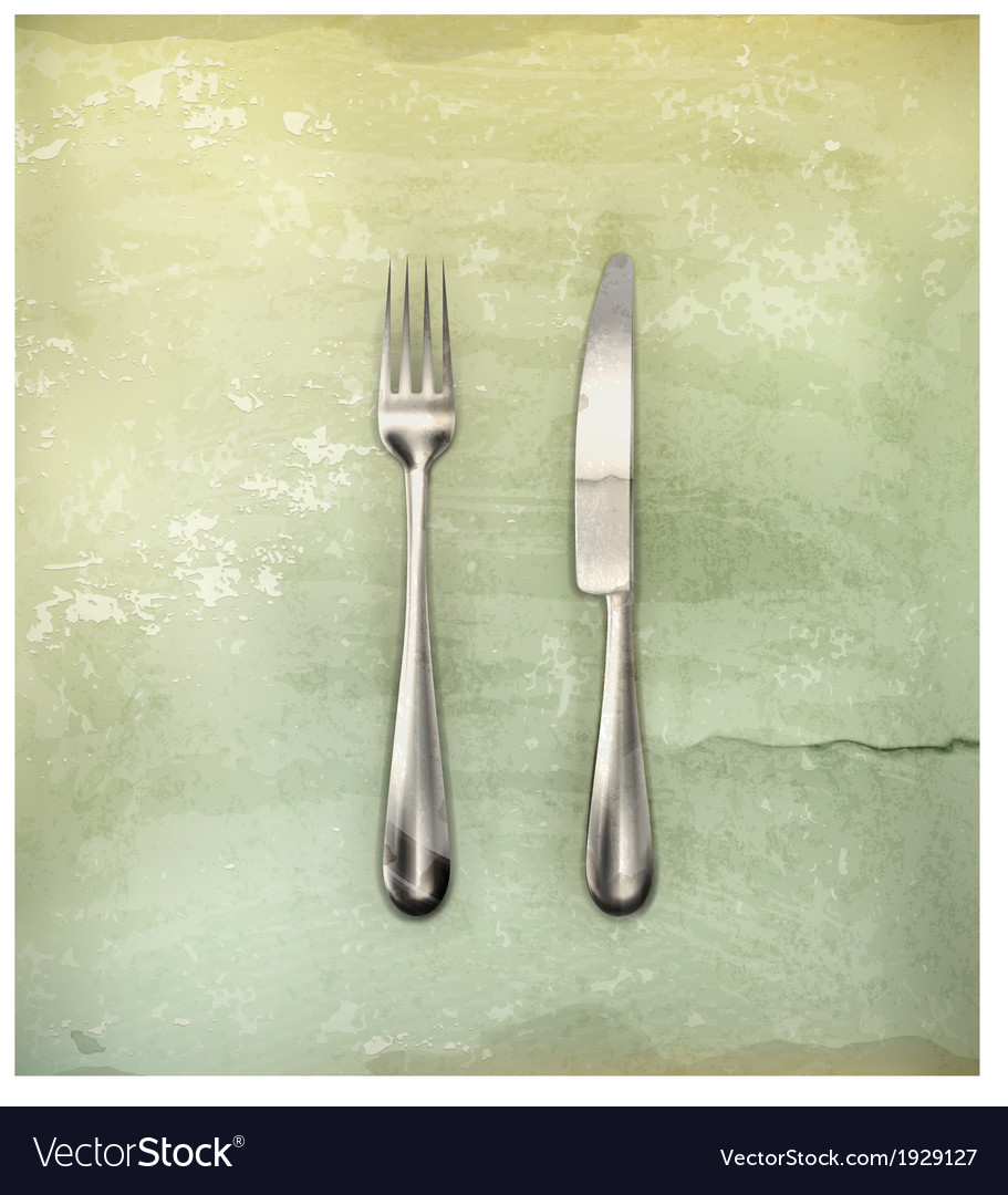 Table knife and fork old-style vector | Price: 1 Credit (USD $1)