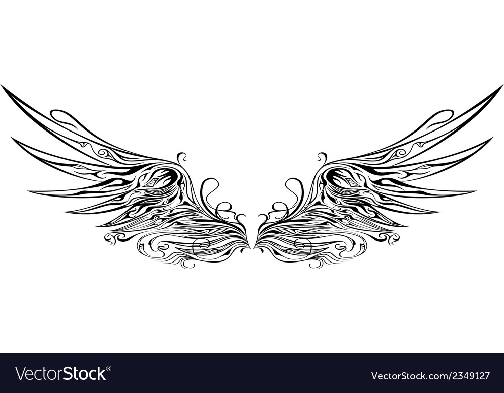 Wing 1 vector | Price: 1 Credit (USD $1)