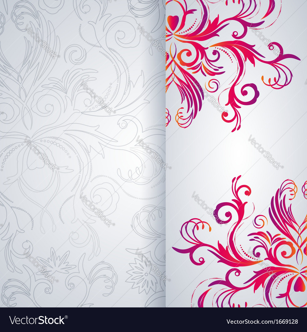 Abstract background with floral item vector | Price: 1 Credit (USD $1)