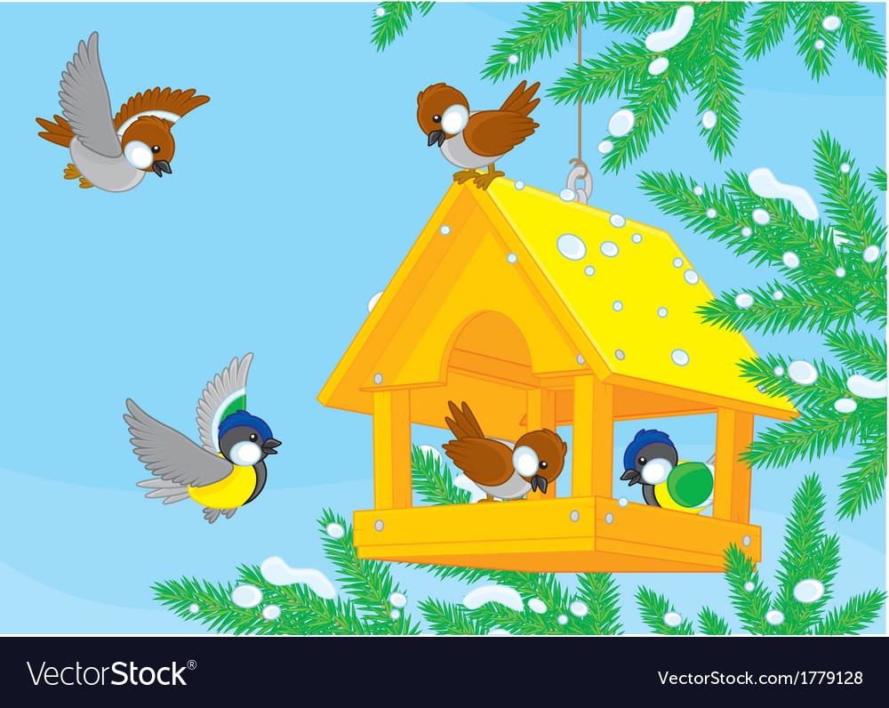 Birdfeeder vector | Price: 1 Credit (USD $1)