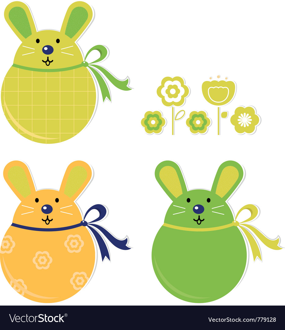 Bunny stickers vector | Price: 1 Credit (USD $1)