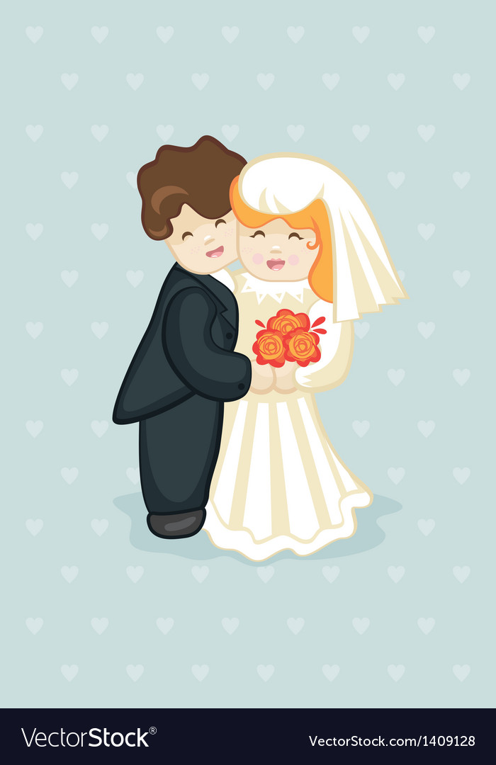 Cake newlyweds vector | Price: 1 Credit (USD $1)