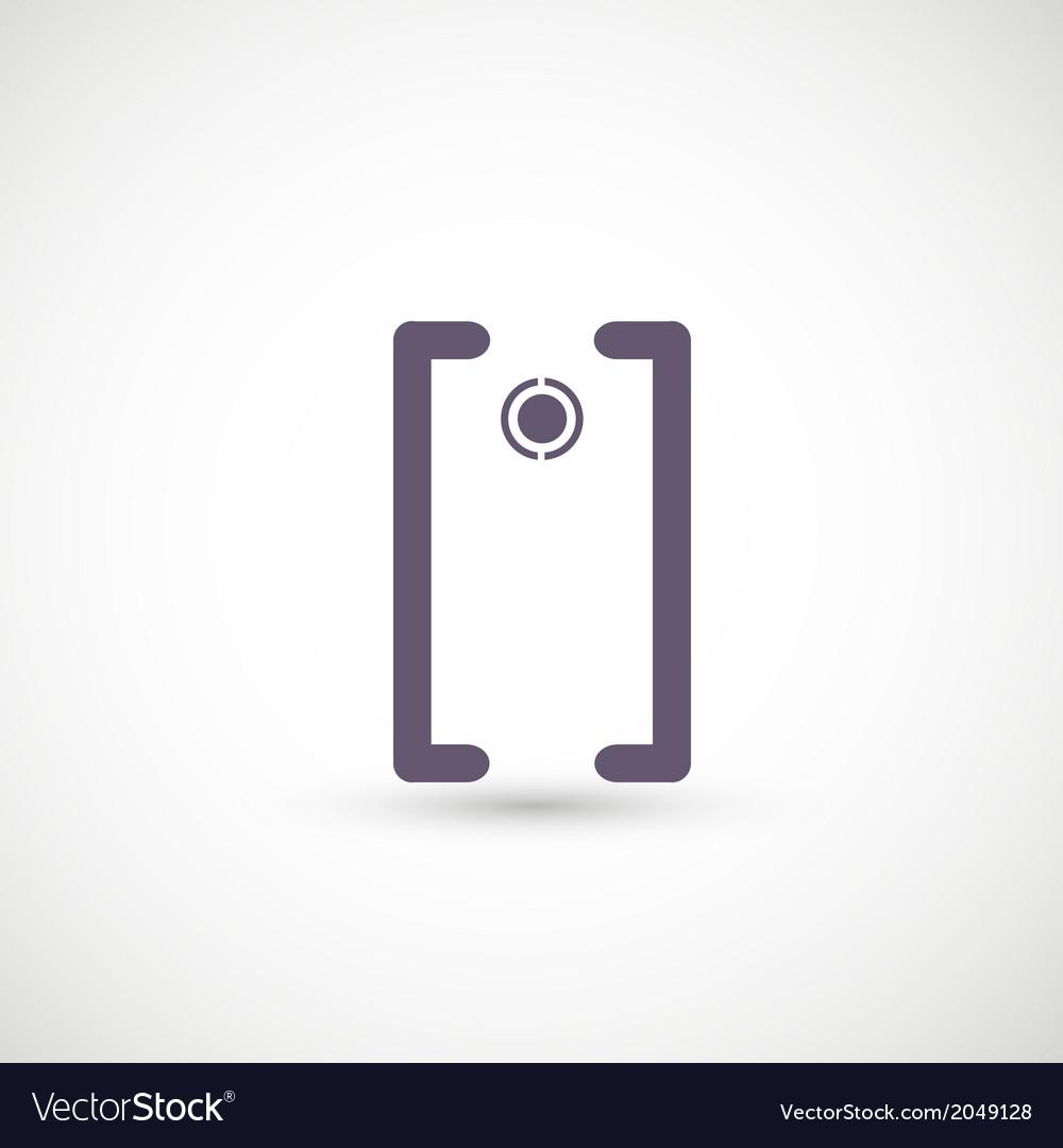 Camera symbol vector | Price: 1 Credit (USD $1)
