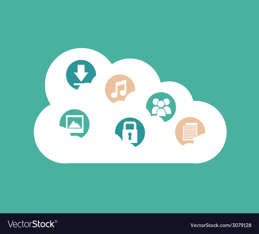 Cloud design vector | Price: 1 Credit (USD $1)