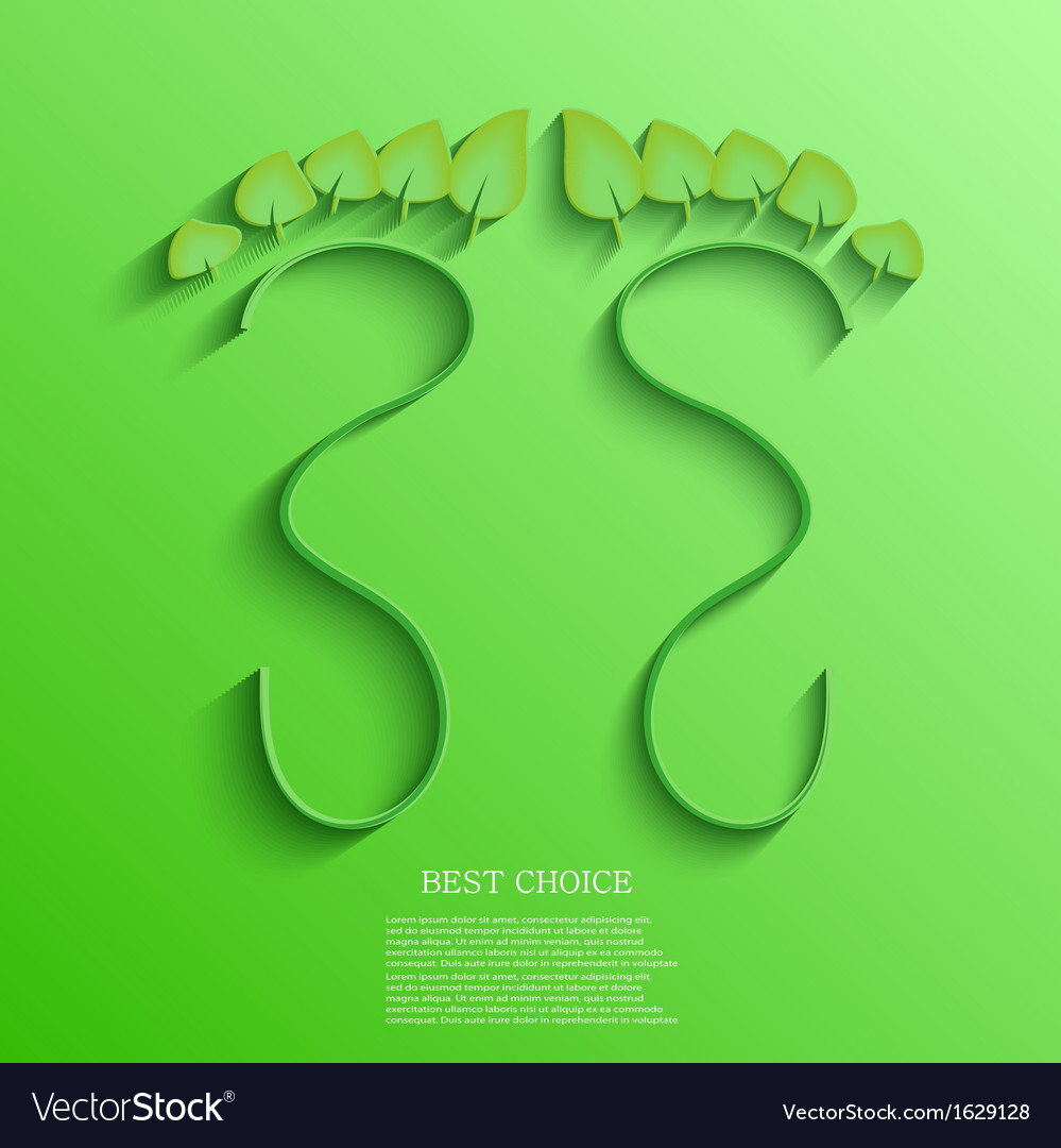 Eco footprint background eps10 vector   Price: 1 Credit (USD $1)