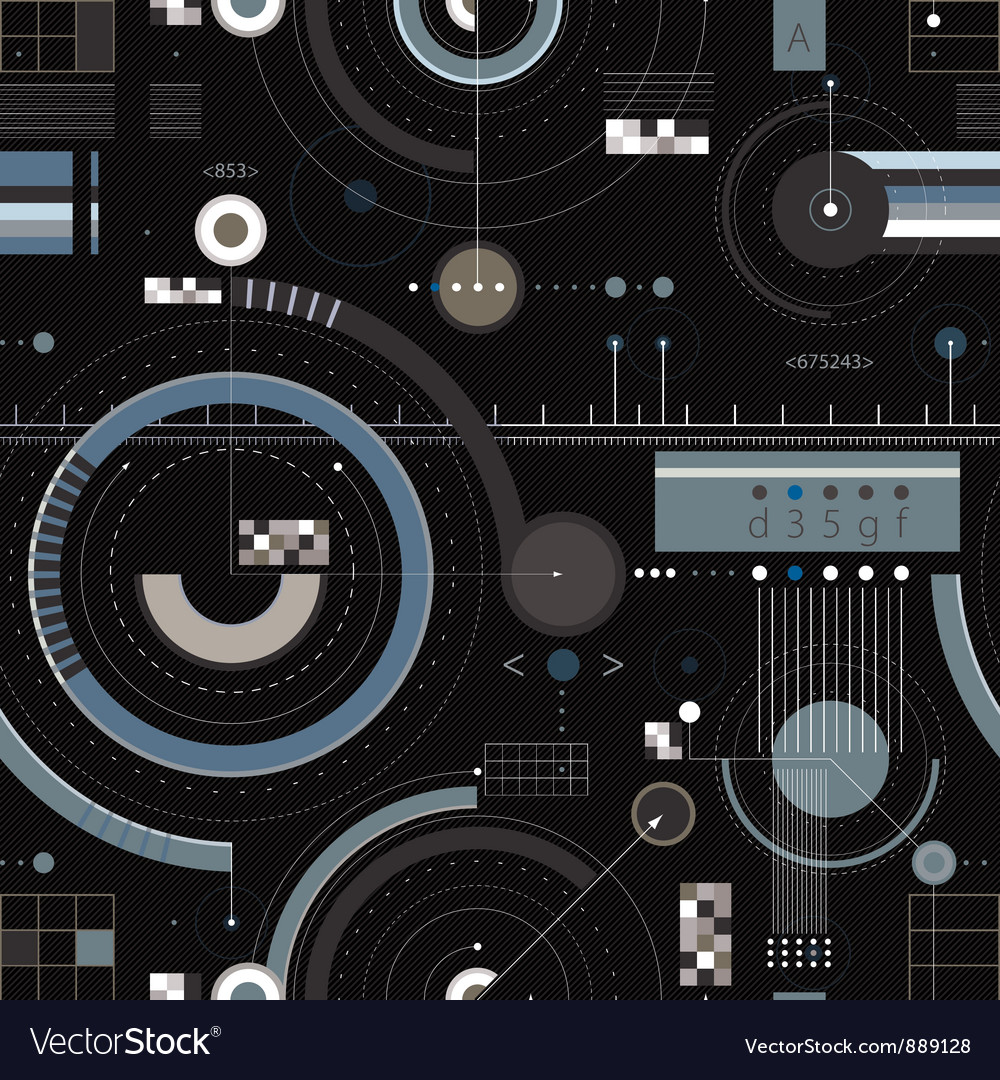 Engineering draft seamless pattern vector | Price: 3 Credit (USD $3)