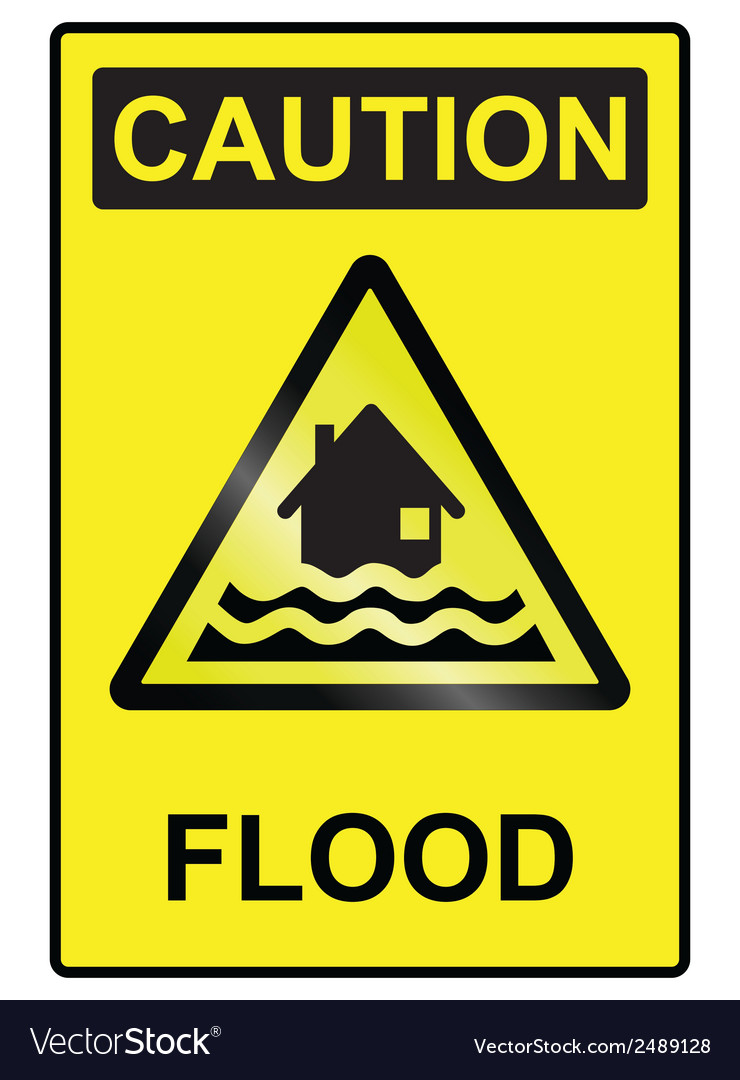 Flood hazard sign vector | Price: 1 Credit (USD $1)