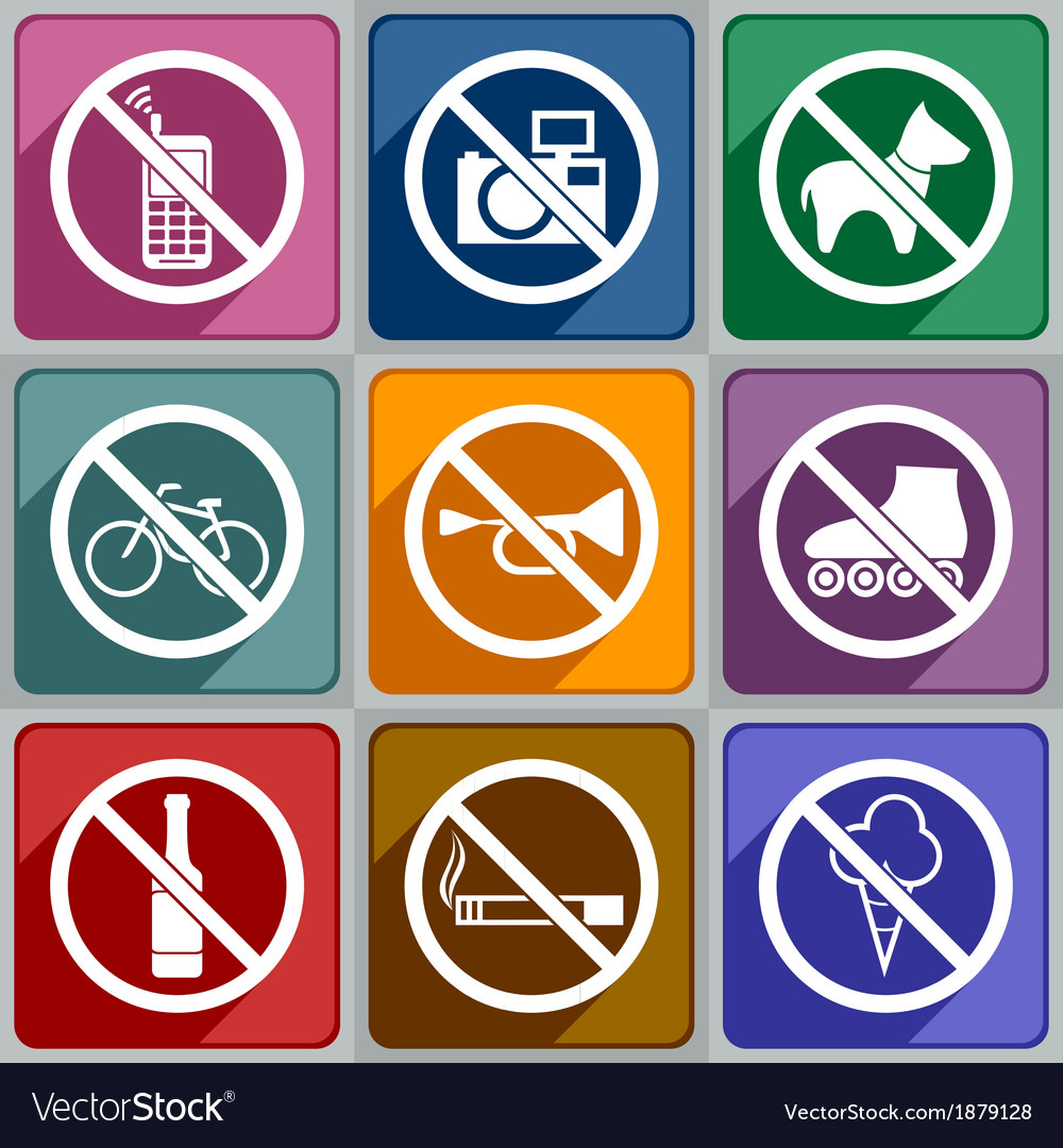Icons prohibition vector | Price: 1 Credit (USD $1)