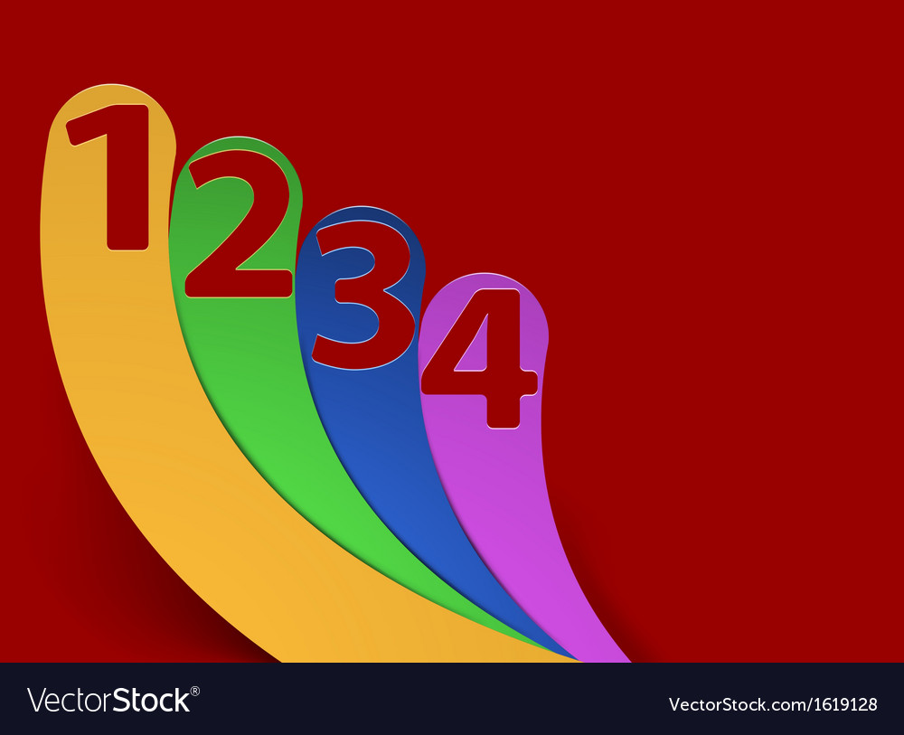 Levels four step concepts on red background vector | Price: 1 Credit (USD $1)