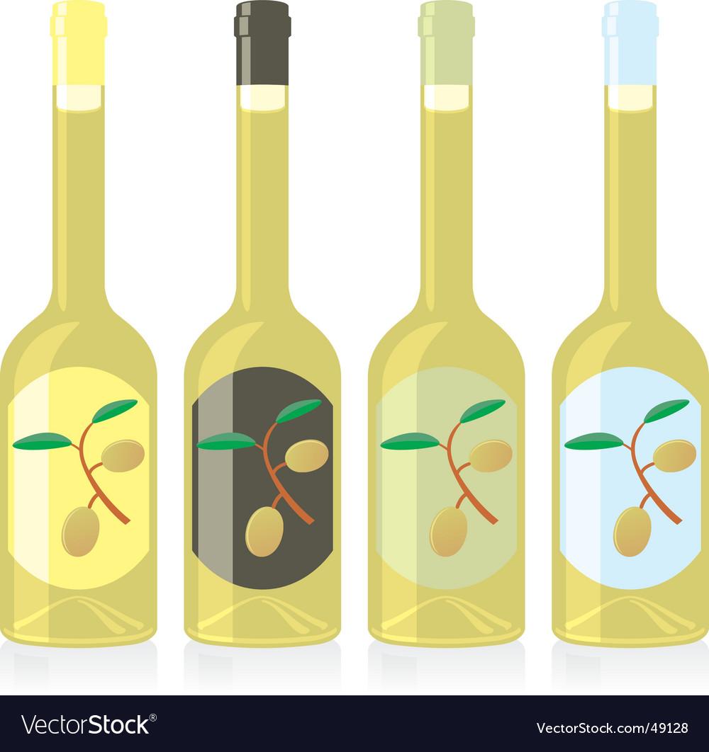 Olive oil bottles set vector