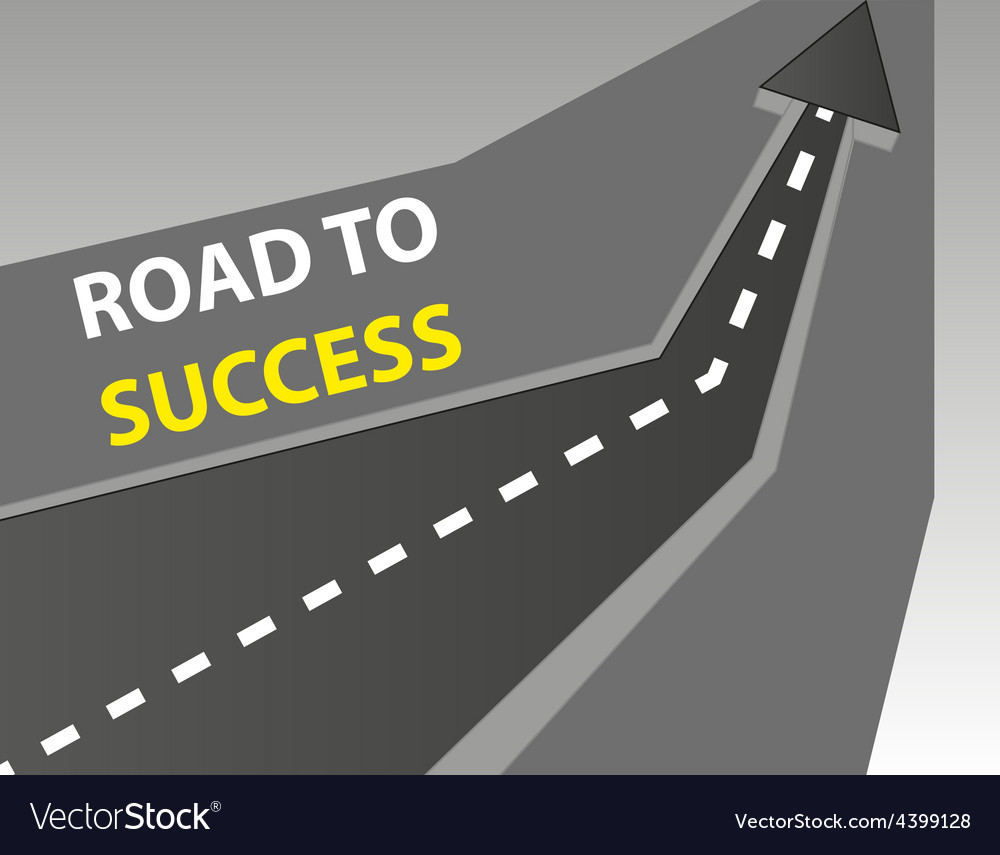 Road to success background vector | Price: 3 Credit (USD $3)