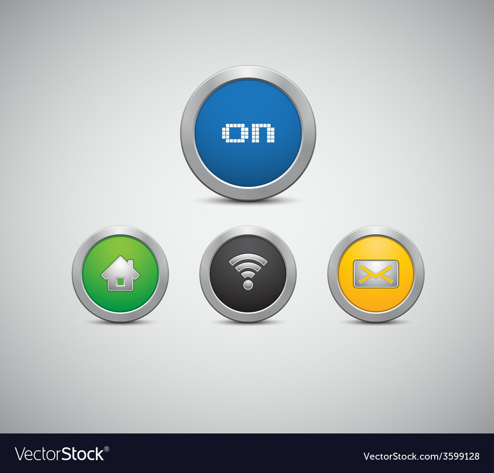 Round buttons with the symbols vector | Price: 1 Credit (USD $1)