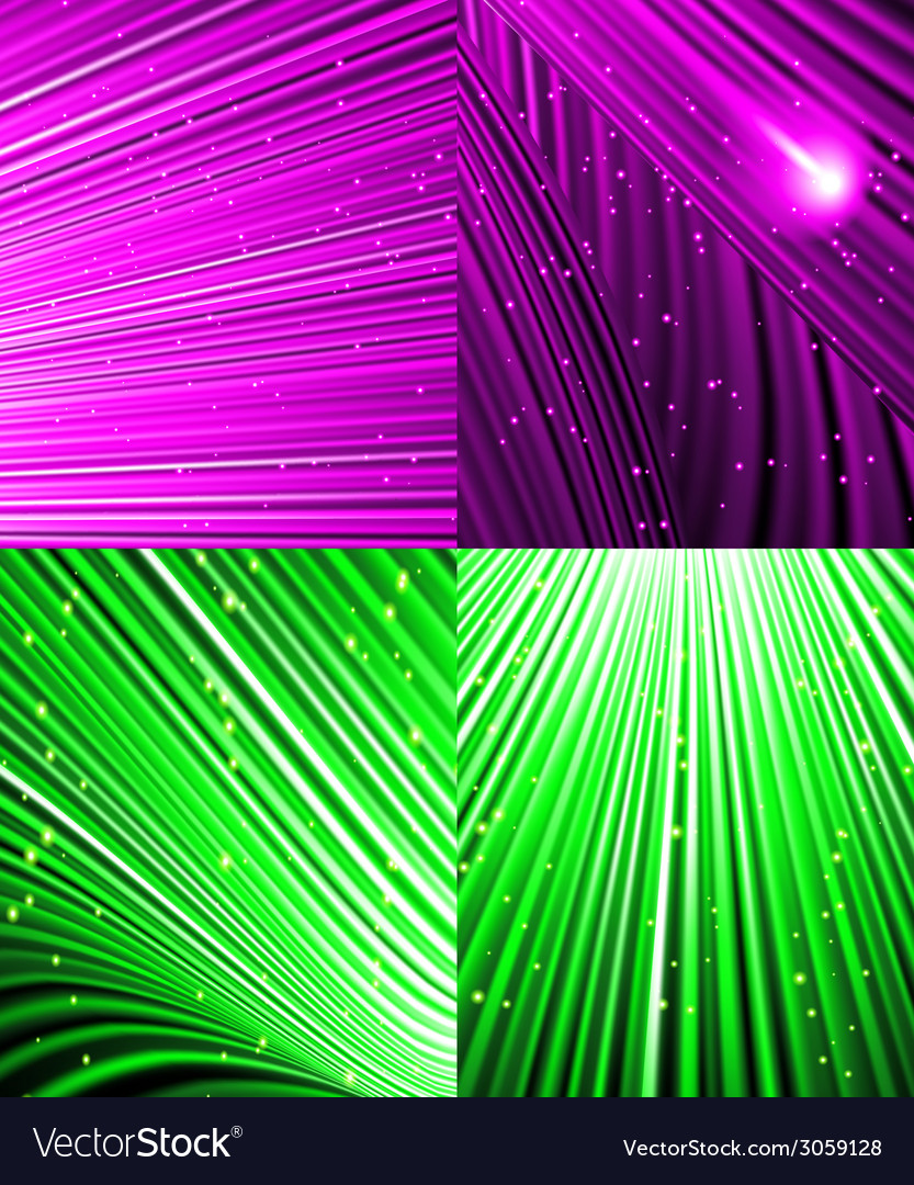 Set of background of colourful luminous rays vector | Price: 1 Credit (USD $1)