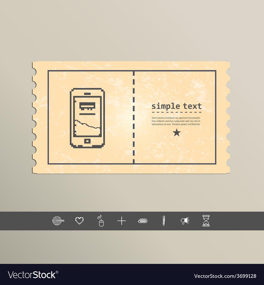 Simple stylish pixel icon phone design vector | Price: 1 Credit (USD $1)