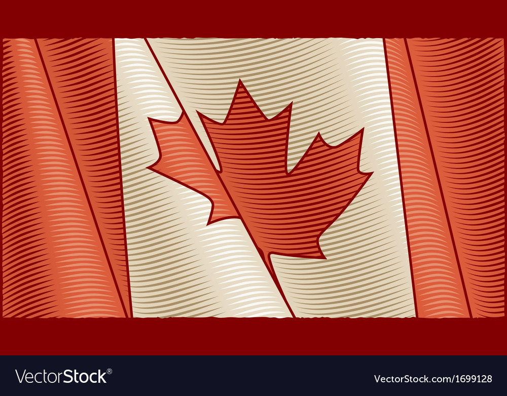 Vintage canadian flag background vector | Price: 1 Credit (USD $1)