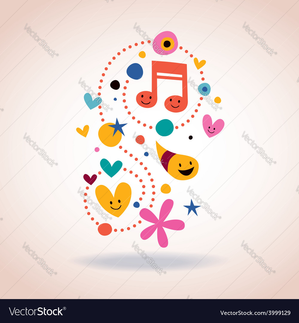 Abstract art with cute characters vector   Price: 1 Credit (USD $1)