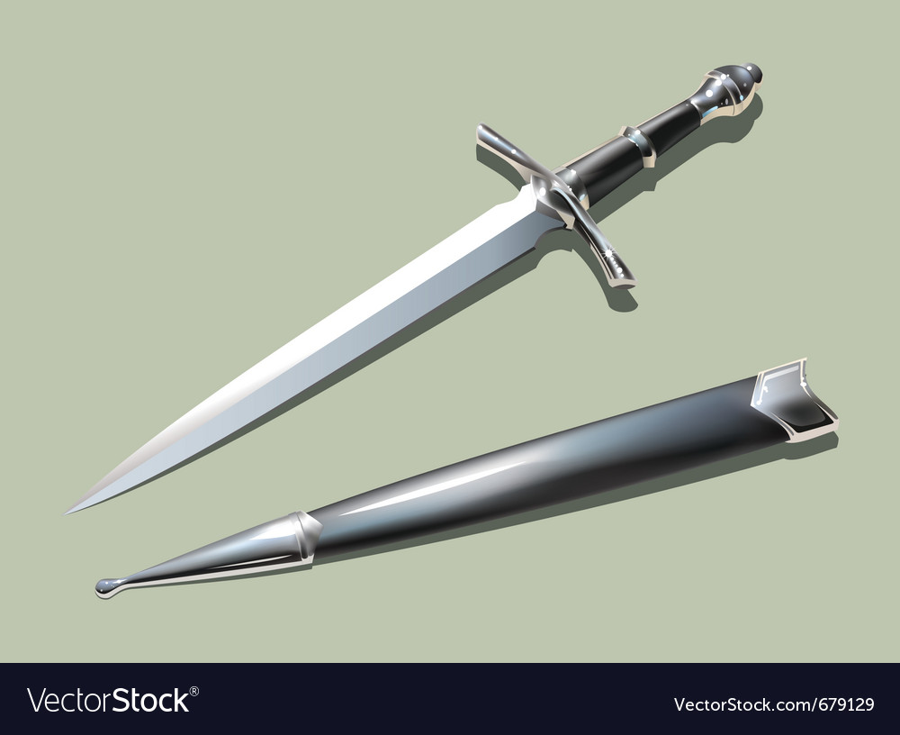 Dagger and scabbard vector | Price: 1 Credit (USD $1)