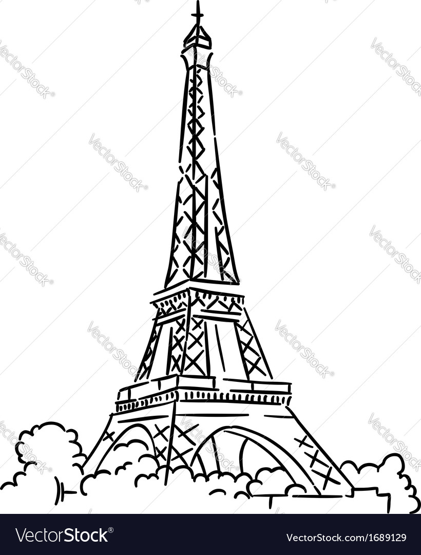 Eiffel tower in paris france vector | Price: 1 Credit (USD $1)