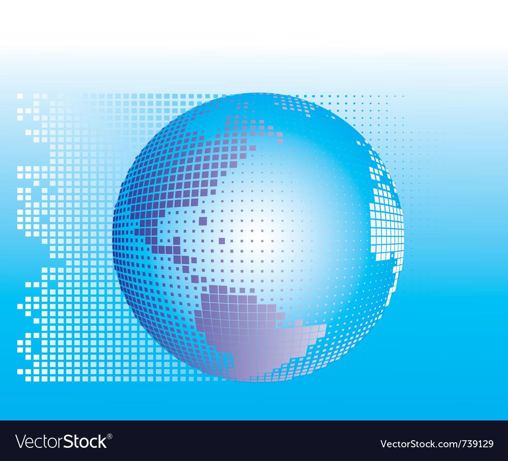 Globe square pixels vector | Price: 1 Credit (USD $1)