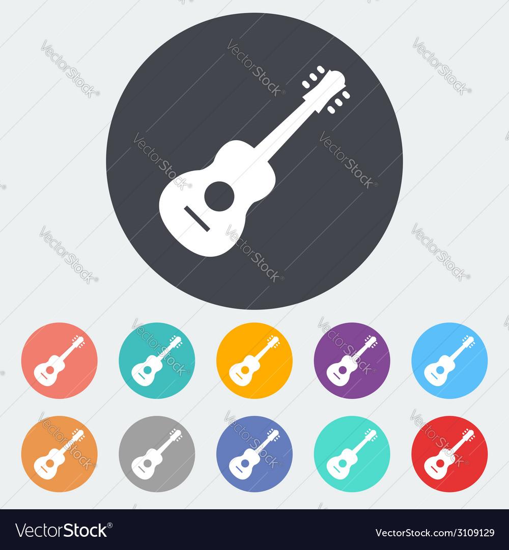 Guitar icon vector | Price: 1 Credit (USD $1)