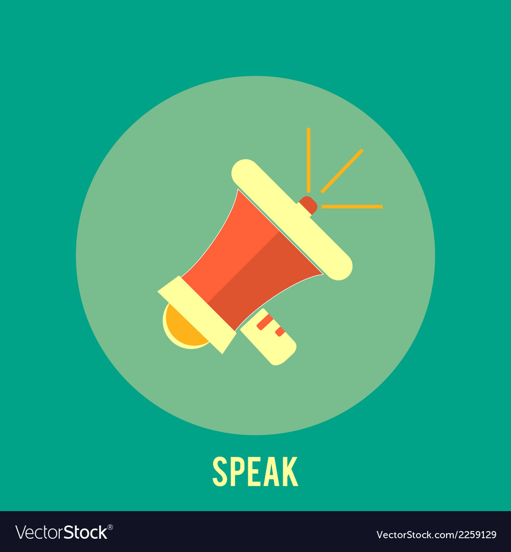Icon of megaphone speak concept vector | Price: 1 Credit (USD $1)