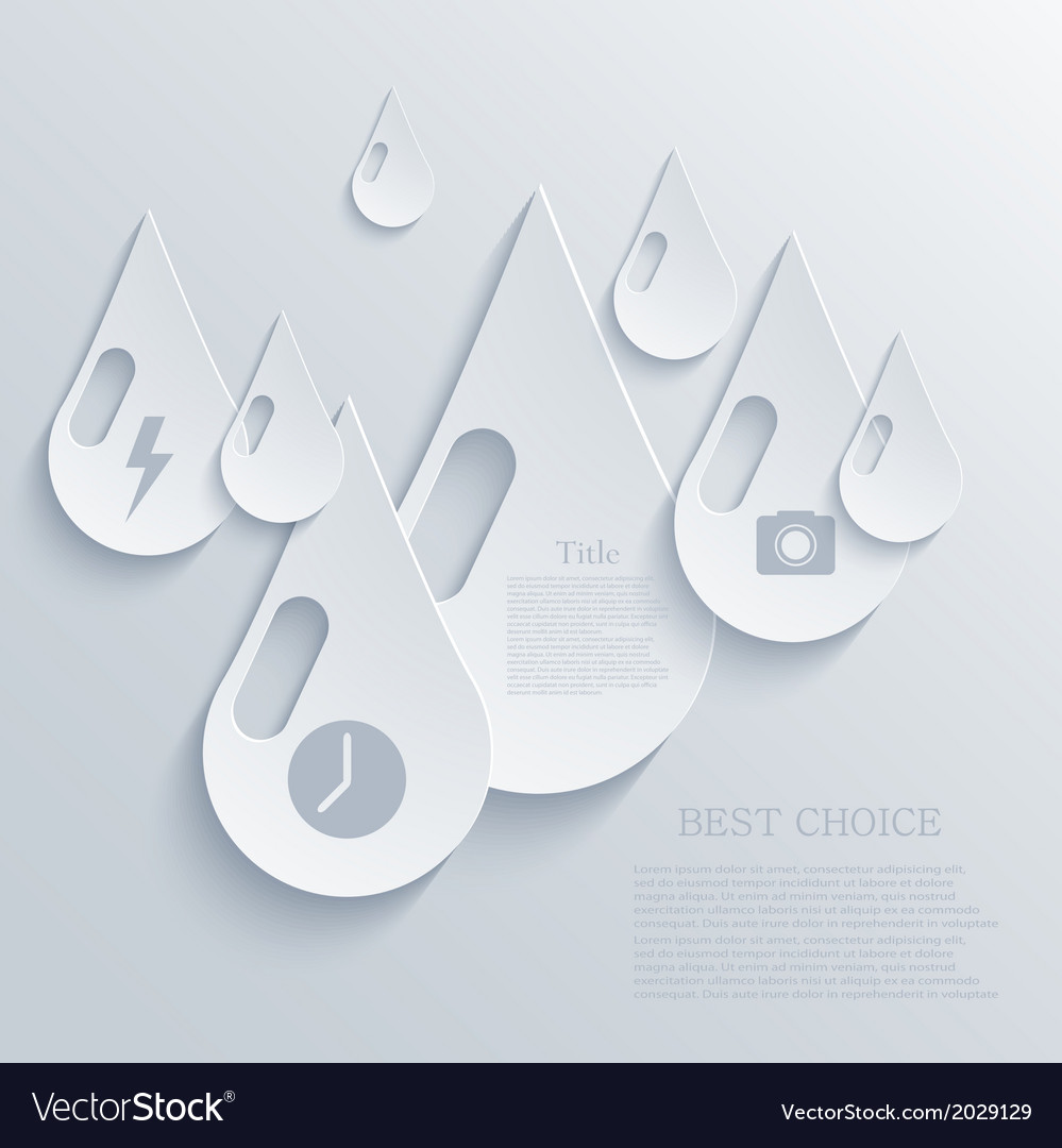 Modern drop background eps 10 vector | Price: 1 Credit (USD $1)