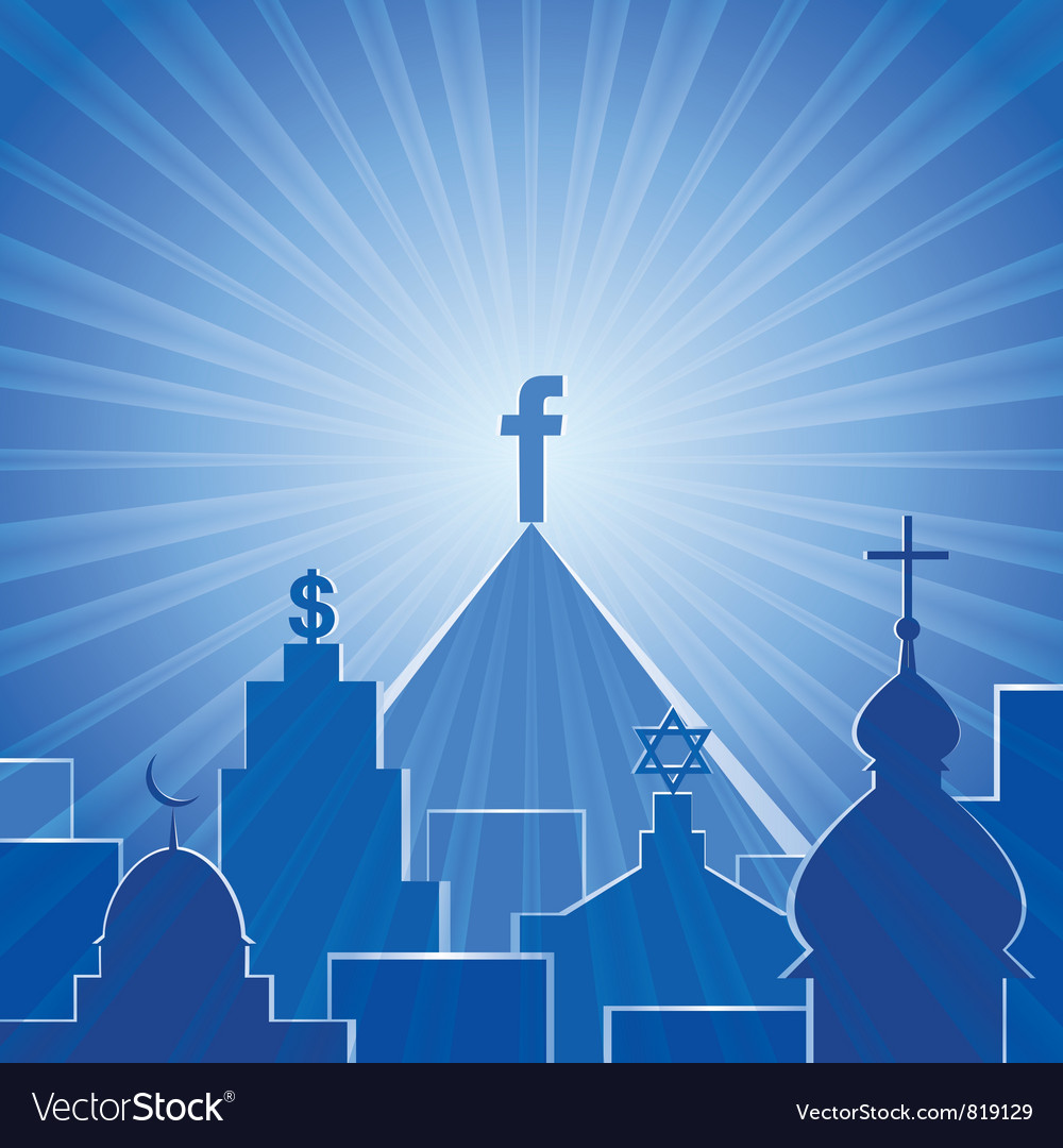 New religion social network vector | Price: 1 Credit (USD $1)