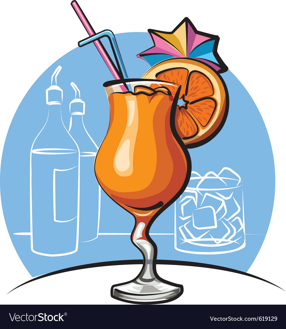Orange cocktail vector | Price: 3 Credit (USD $3)
