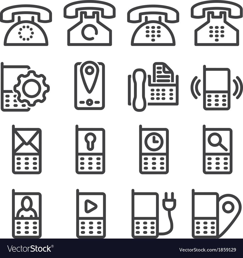 Set phone icon vector   Price: 1 Credit (USD $1)