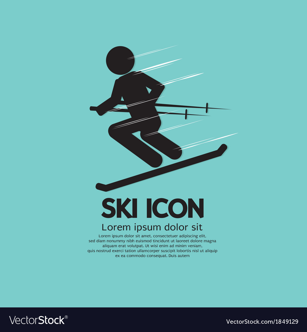 Ski icon vector | Price: 1 Credit (USD $1)