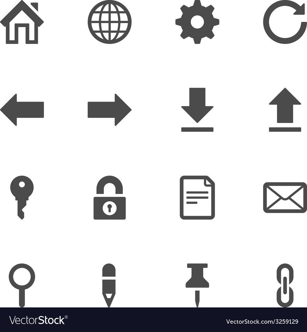 Website icons vector | Price: 1 Credit (USD $1)