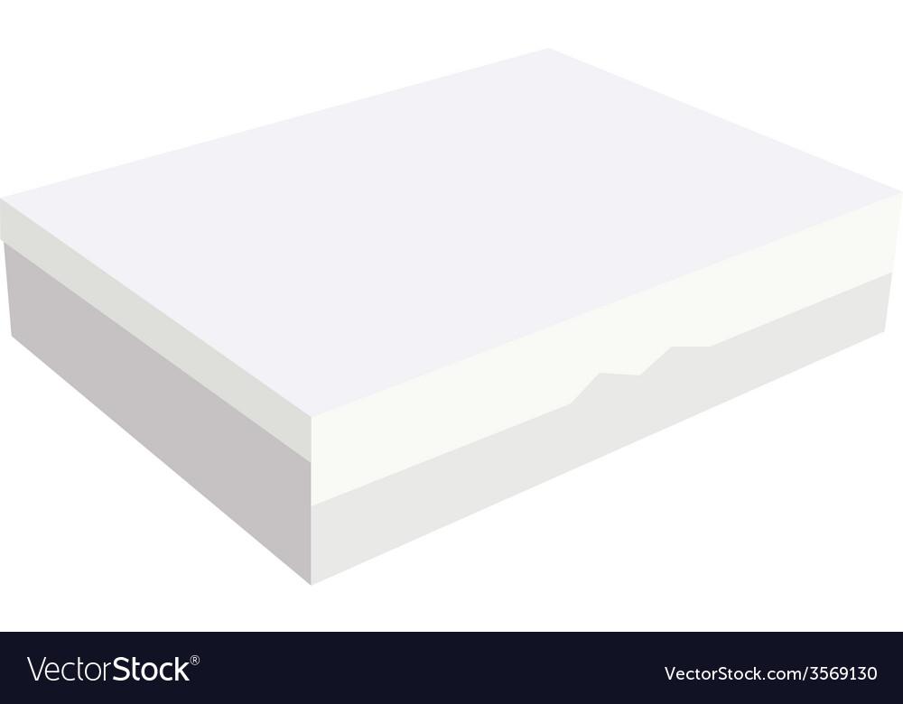 Closed white box vector | Price: 1 Credit (USD $1)