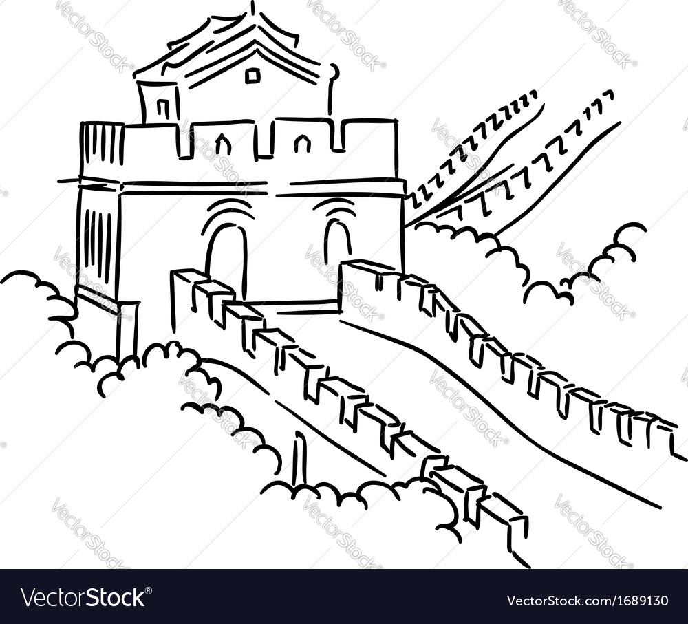 Great wall in china vector | Price: 1 Credit (USD $1)