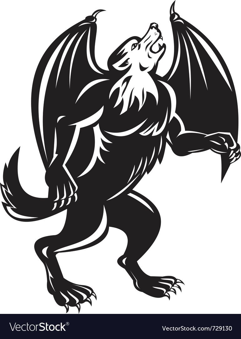 Kludde mythical belgian beast vector | Price: 1 Credit (USD $1)
