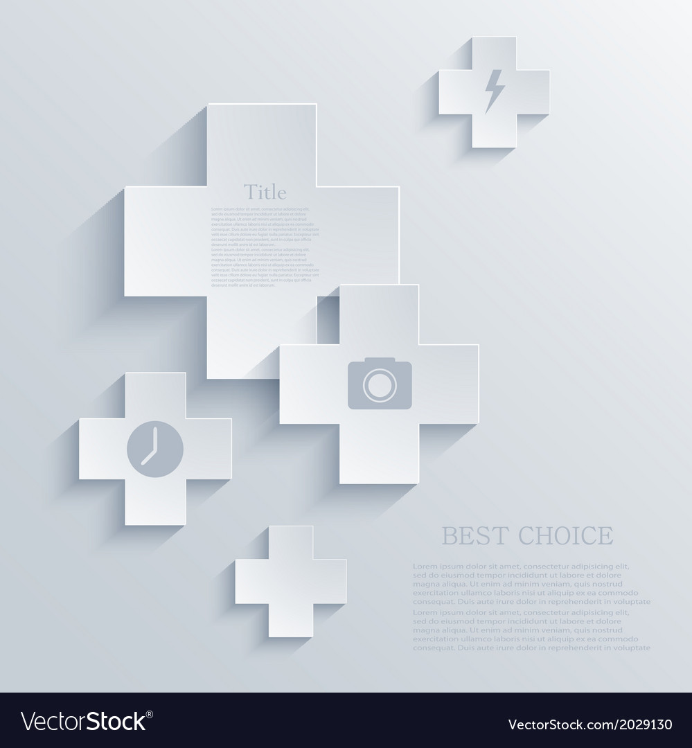 Modern cross background eps 10 vector