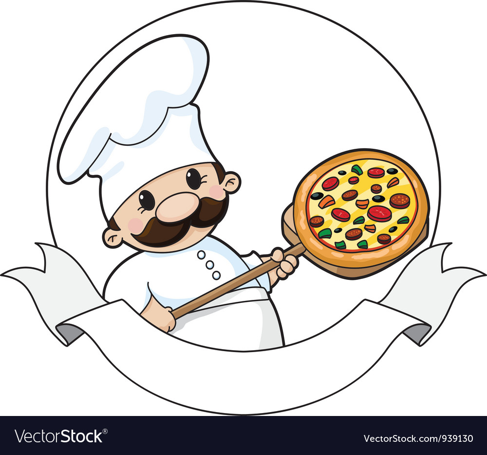 Pizza chef banner vector | Price: 3 Credit (USD $3)