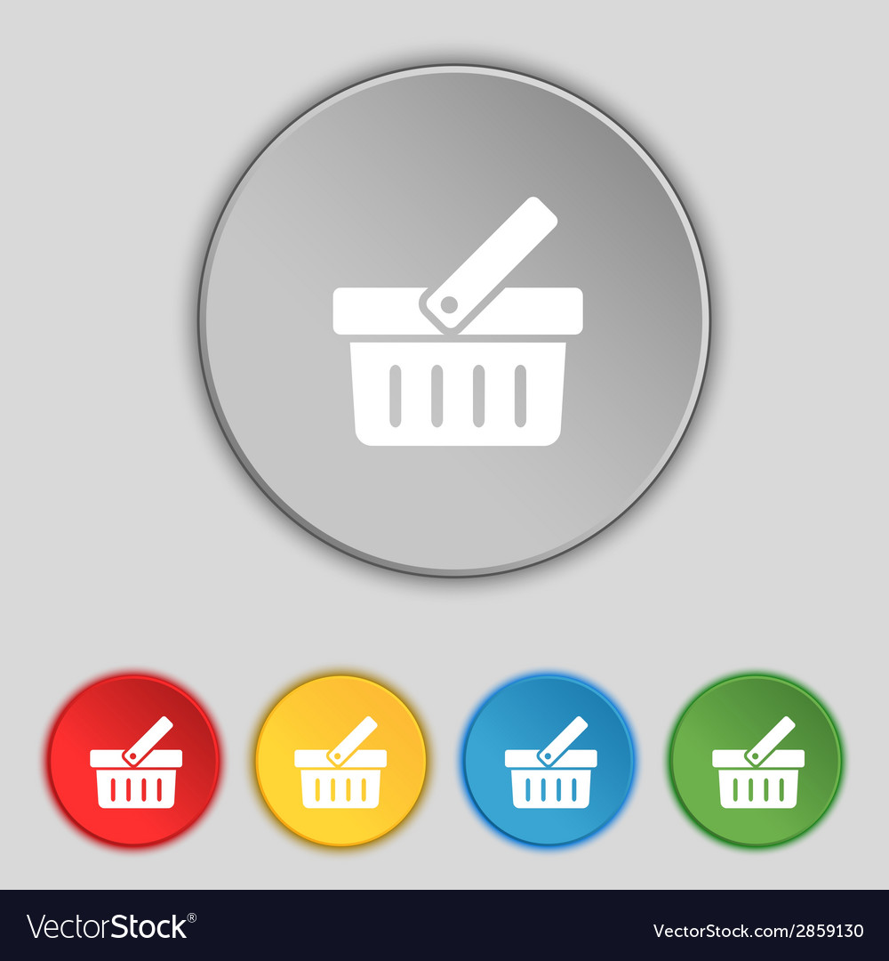 Shopping cart sign icon online buying button set vector | Price: 1 Credit (USD $1)