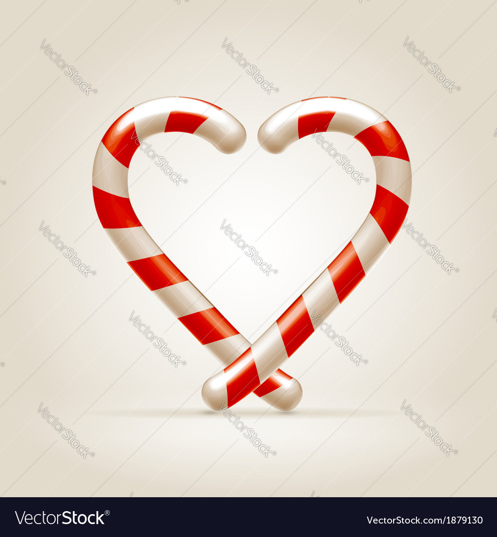 Sweetheart made of candy canes vector | Price:  Credit (USD $)