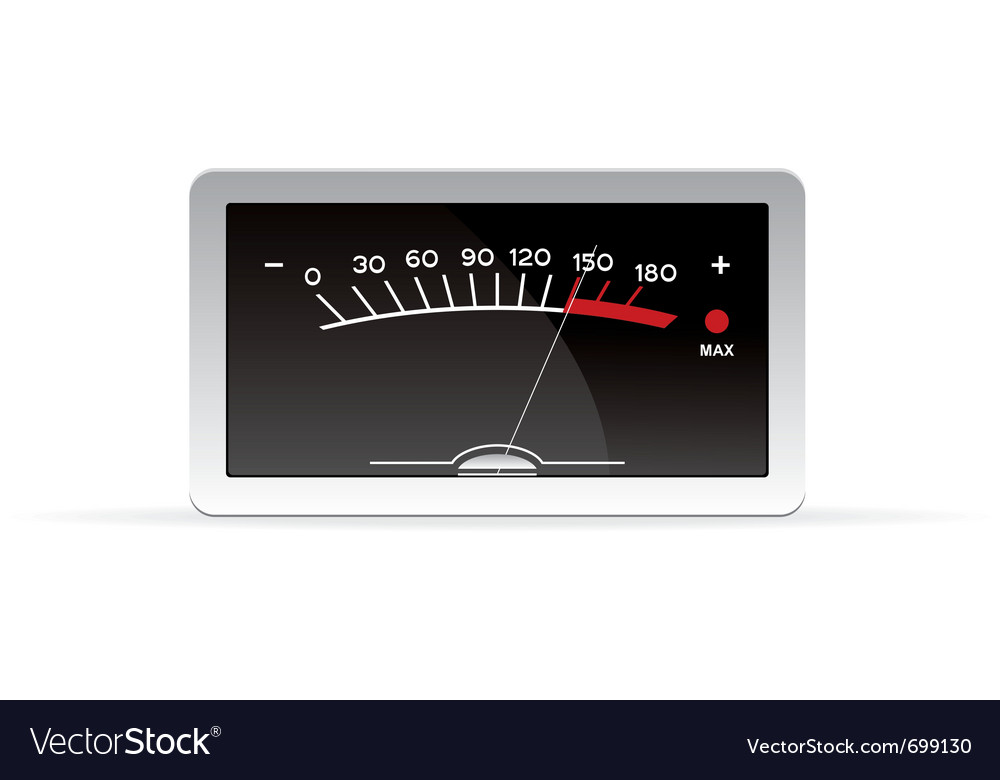 Vu meter vector | Price: 1 Credit (USD $1)