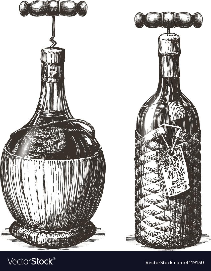 Wine logo design template bottle or vector | Price: 3 Credit (USD $3)