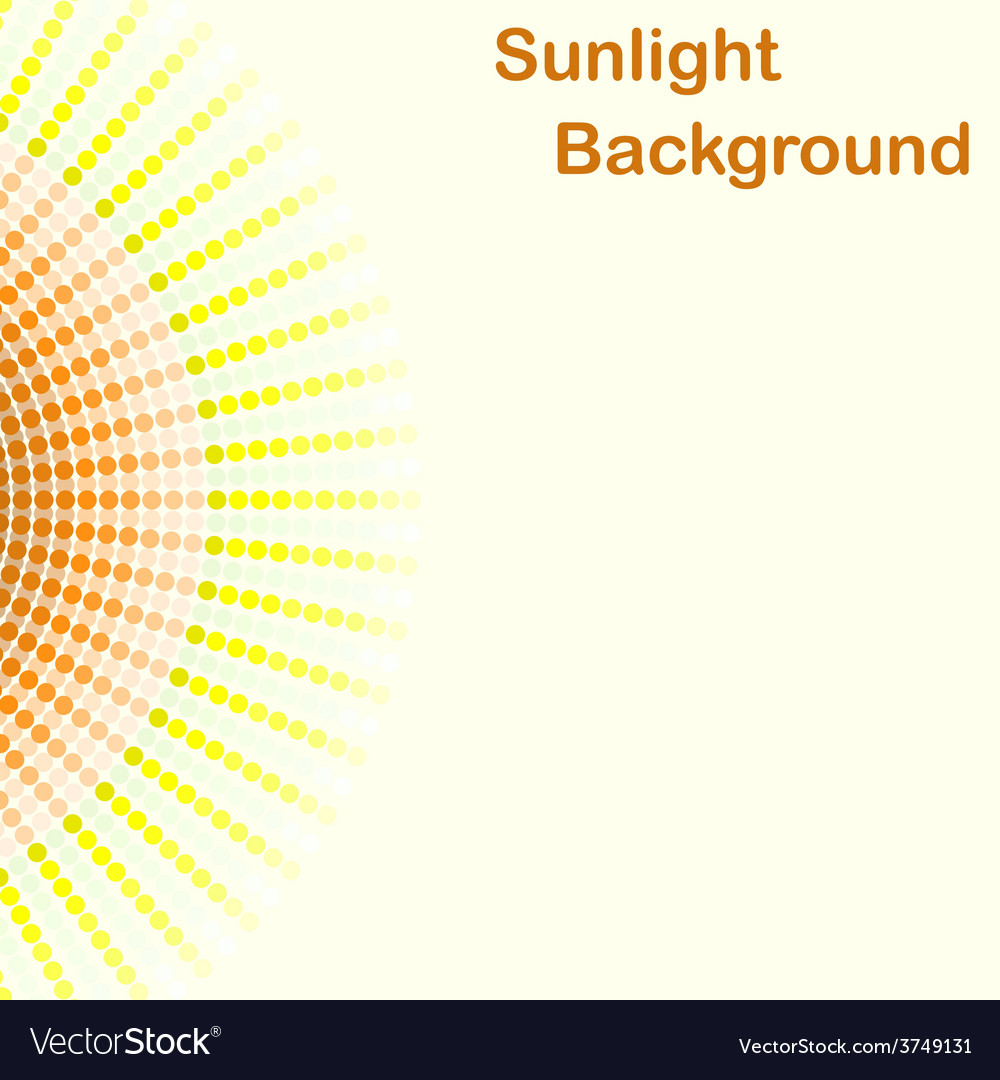 Colorful sunlight background round sunbeams vector | Price: 1 Credit (USD $1)